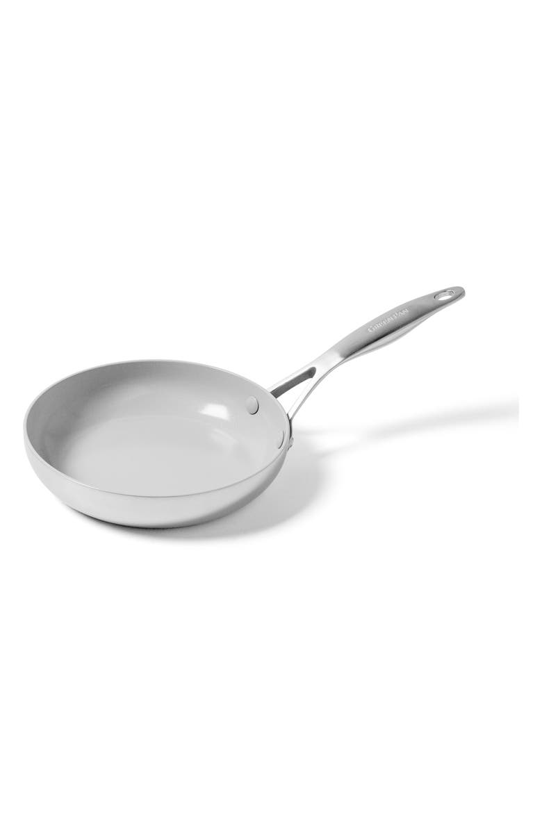 GREENPAN Venice Pro 8-Inch Ceramic Nonstick Fry Pan, Main, color, STAINLESS STEEL