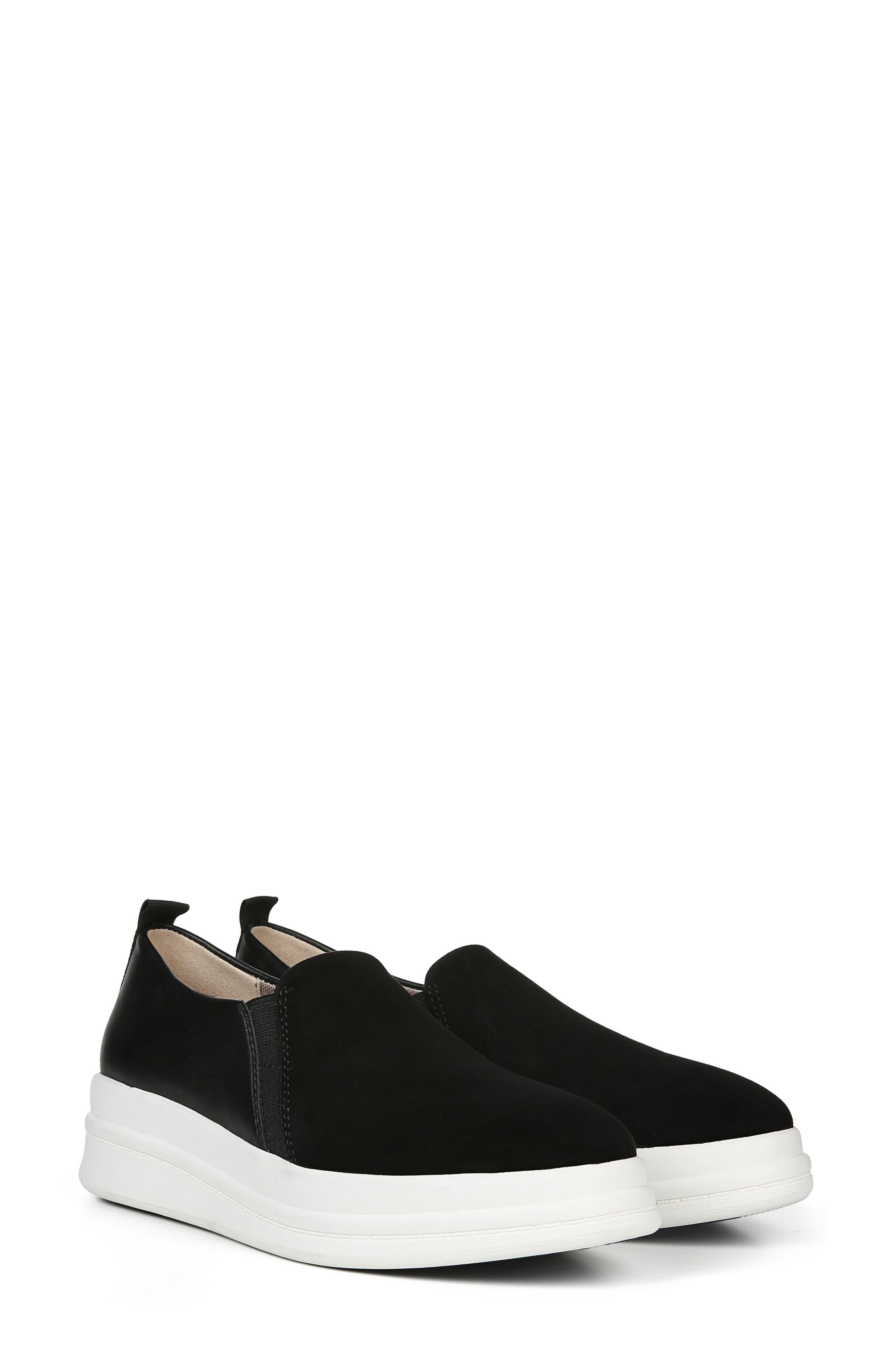 ,                             Yola Slip-On Sneaker,                             Alternate thumbnail 9, color,                             BLACK SUEDE/ LEATHER