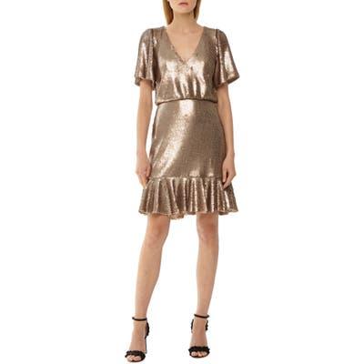 Ml Monique Lhuillier Sequin Cocktail Dress