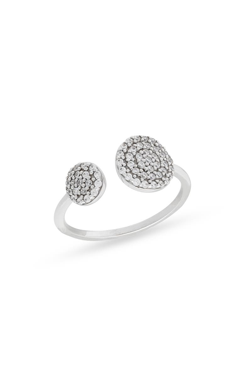 NORDSTROM Pavé Circles Open Ring, Main, color, CLEAR- SILVER