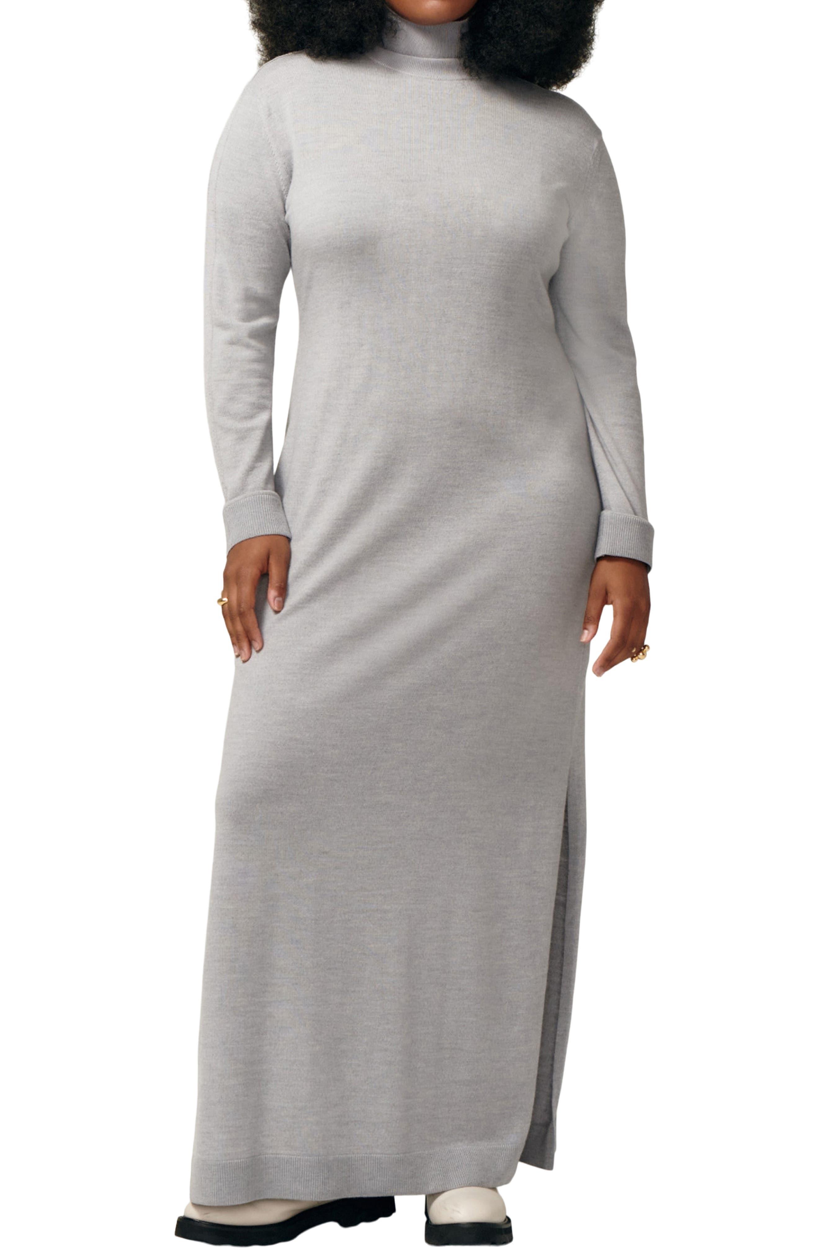 Affection Long Sleeve Merino Wool Jersey Sweater Dress