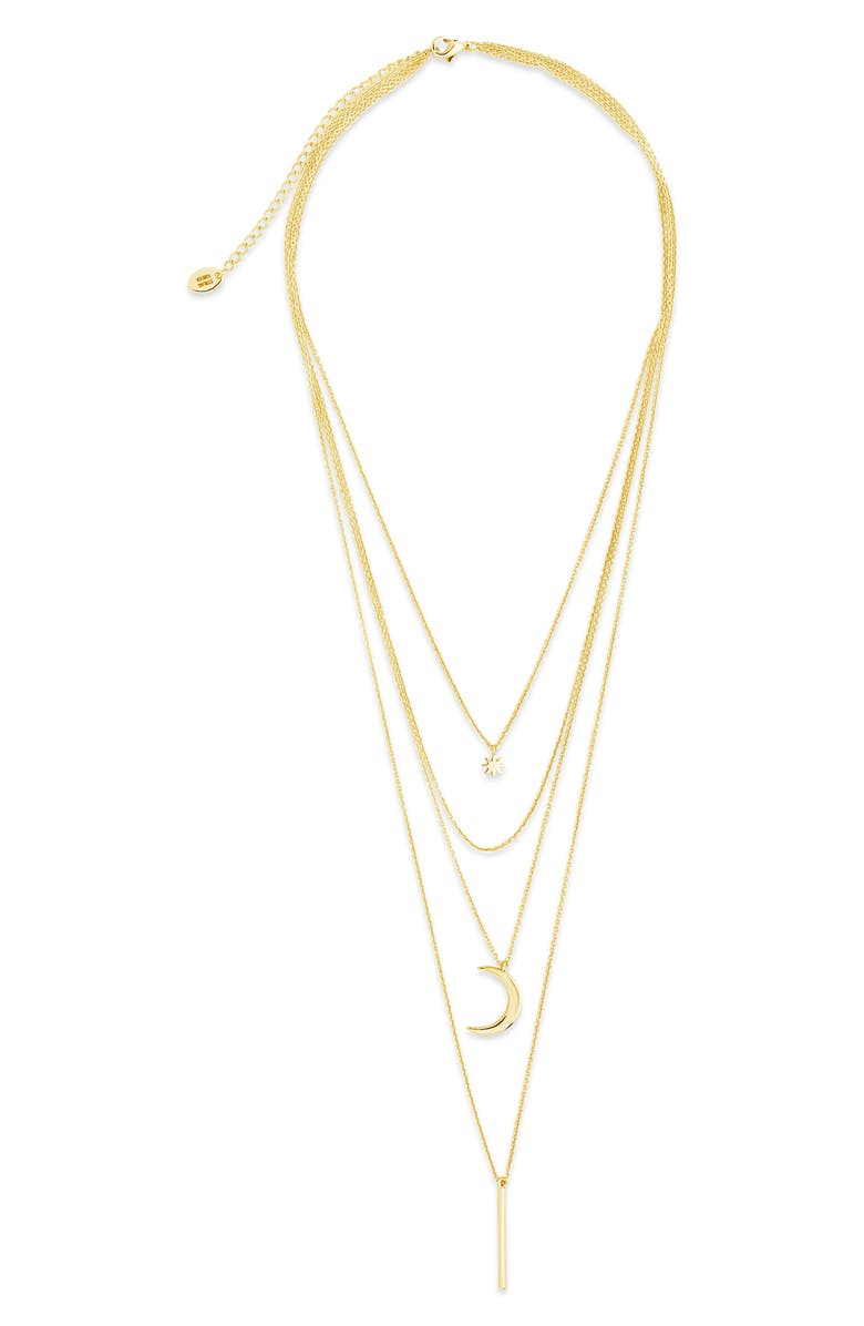 STERLING FOREVER Layered Pendant Necklace, Main, color, GOLD