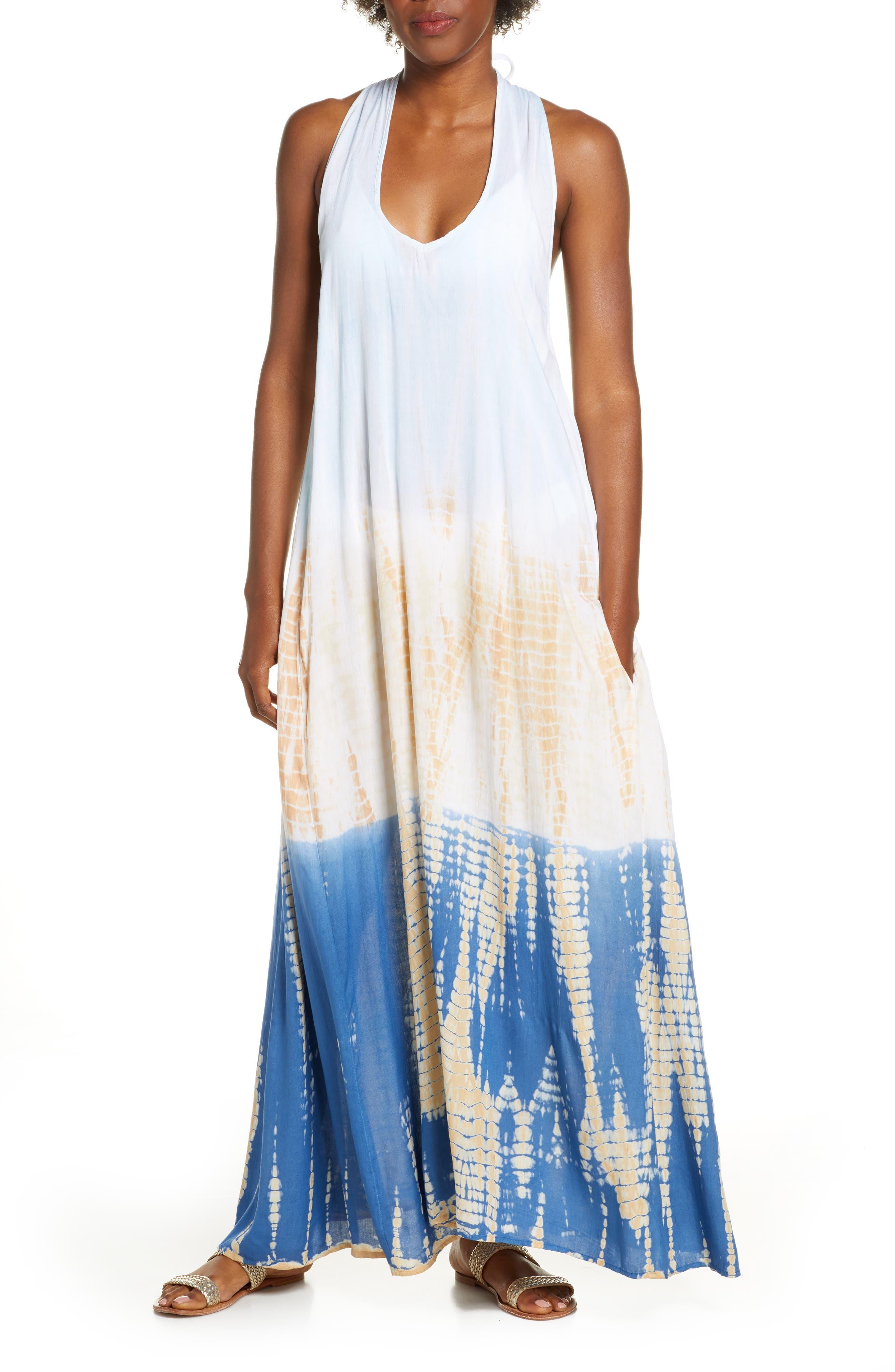 Elan Braided Back Cover-Up Maxi Dress