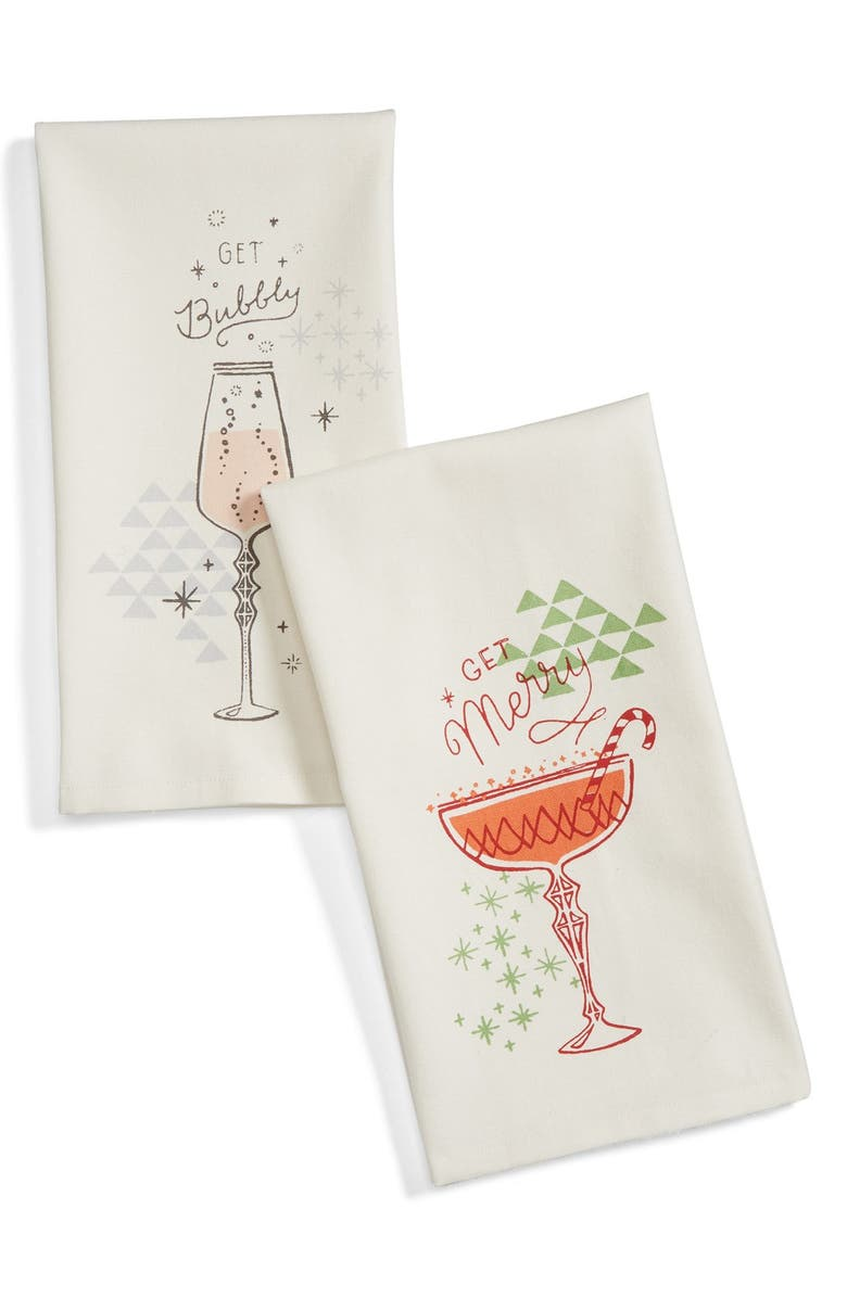 NORDSTROM at Home Get Bubbly Set of 2 Dish Towels, Main, color, 900