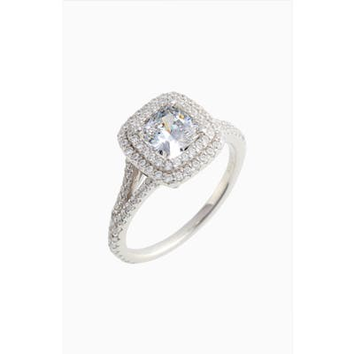 Lafonn Double Halo Simulated Diamond Ring