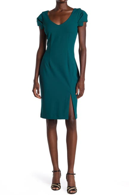 Image of trina Trina Turk Tine V-Neck Sheath Dress