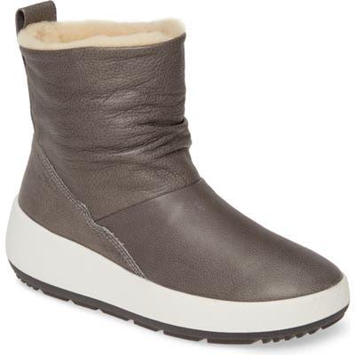 Ecco Ukiuk 2.0 Genuine Shearling Boot, Grey