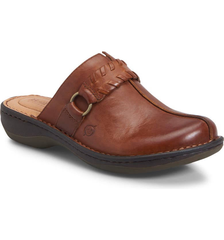 BØRN Talquin Clog, Main, color, TAN LEATHER