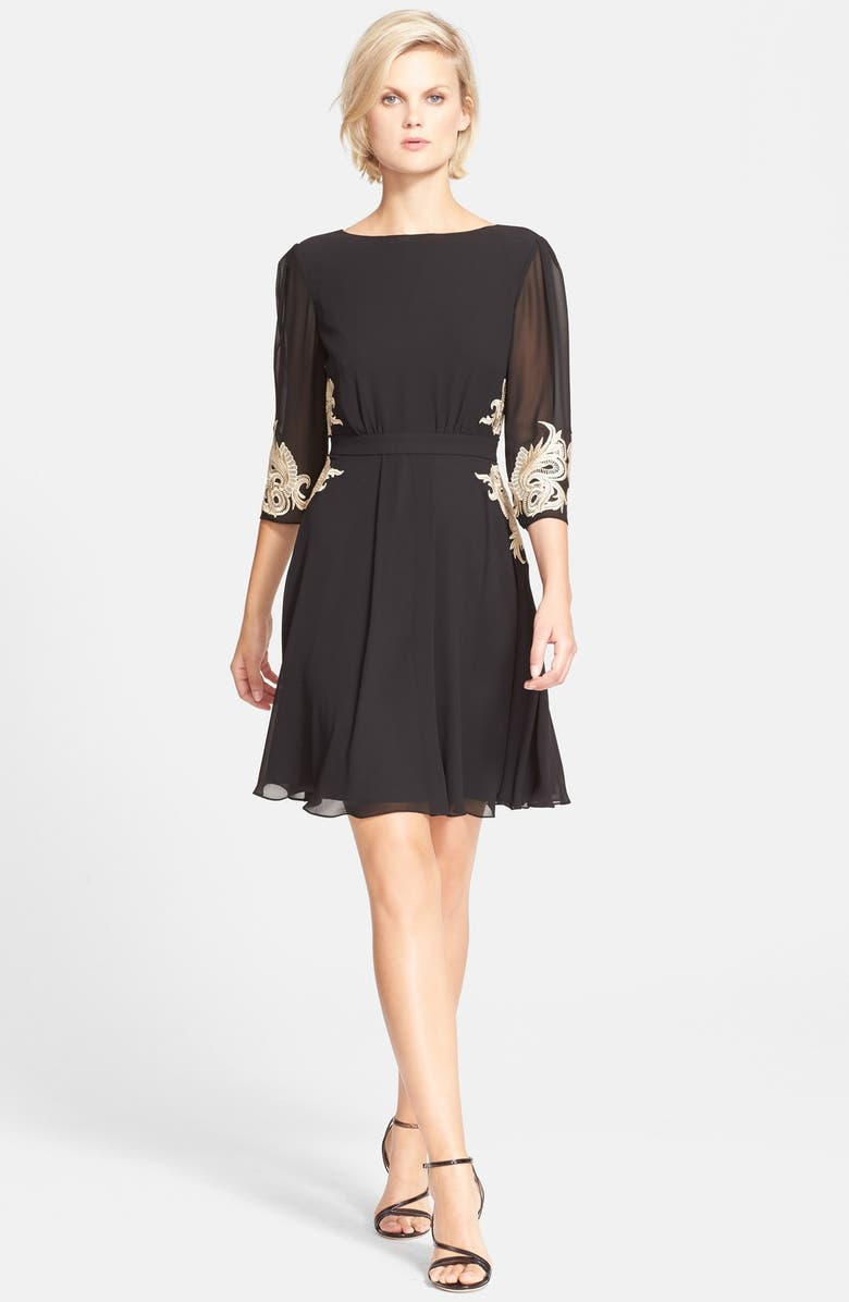 Ted Baker London Gaenor Embroidered Fit Amp Flare Dress