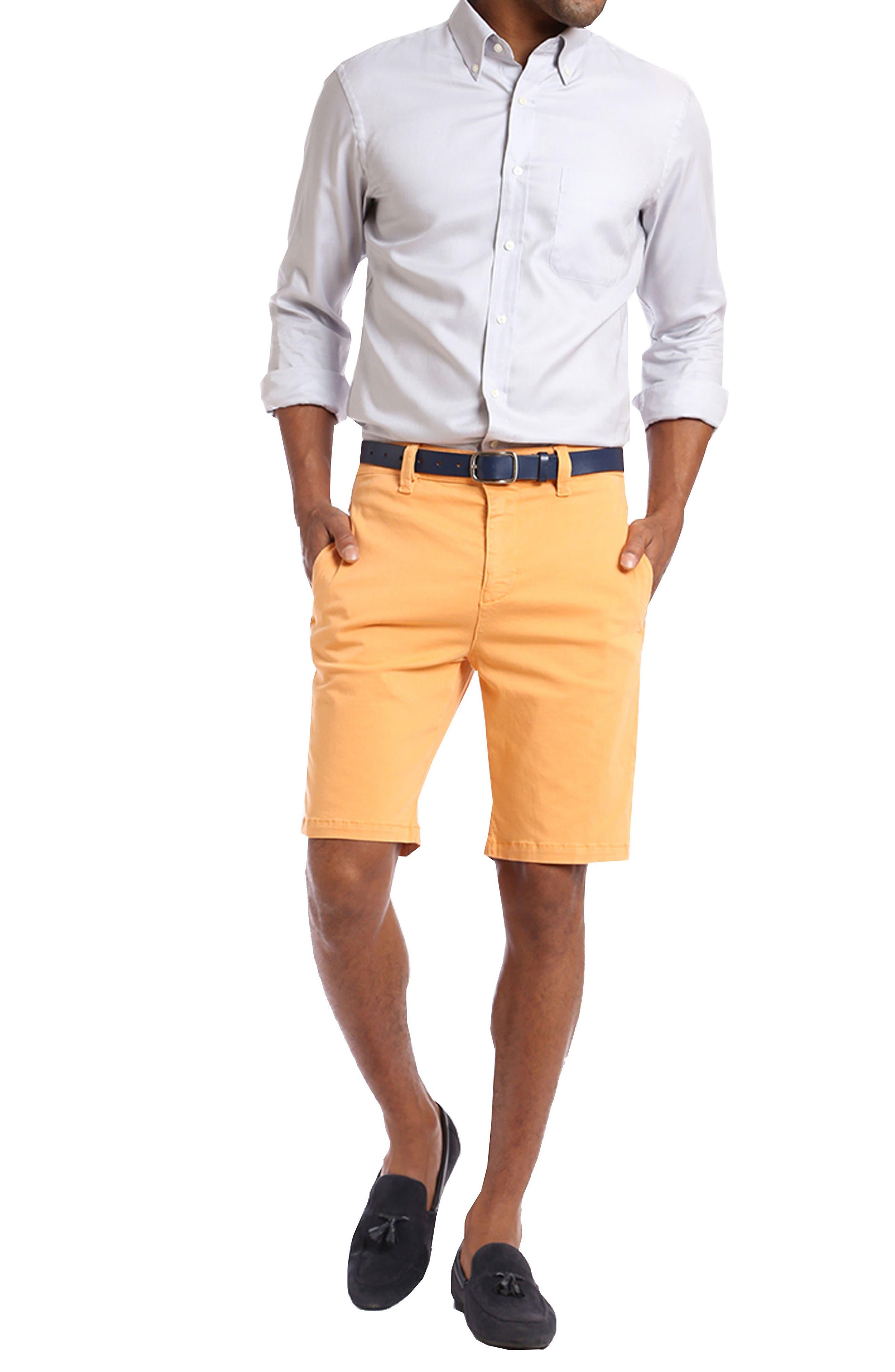 ,                             Nevada Twill Shorts,                             Alternate thumbnail 4, color,                             PEACH TWILL