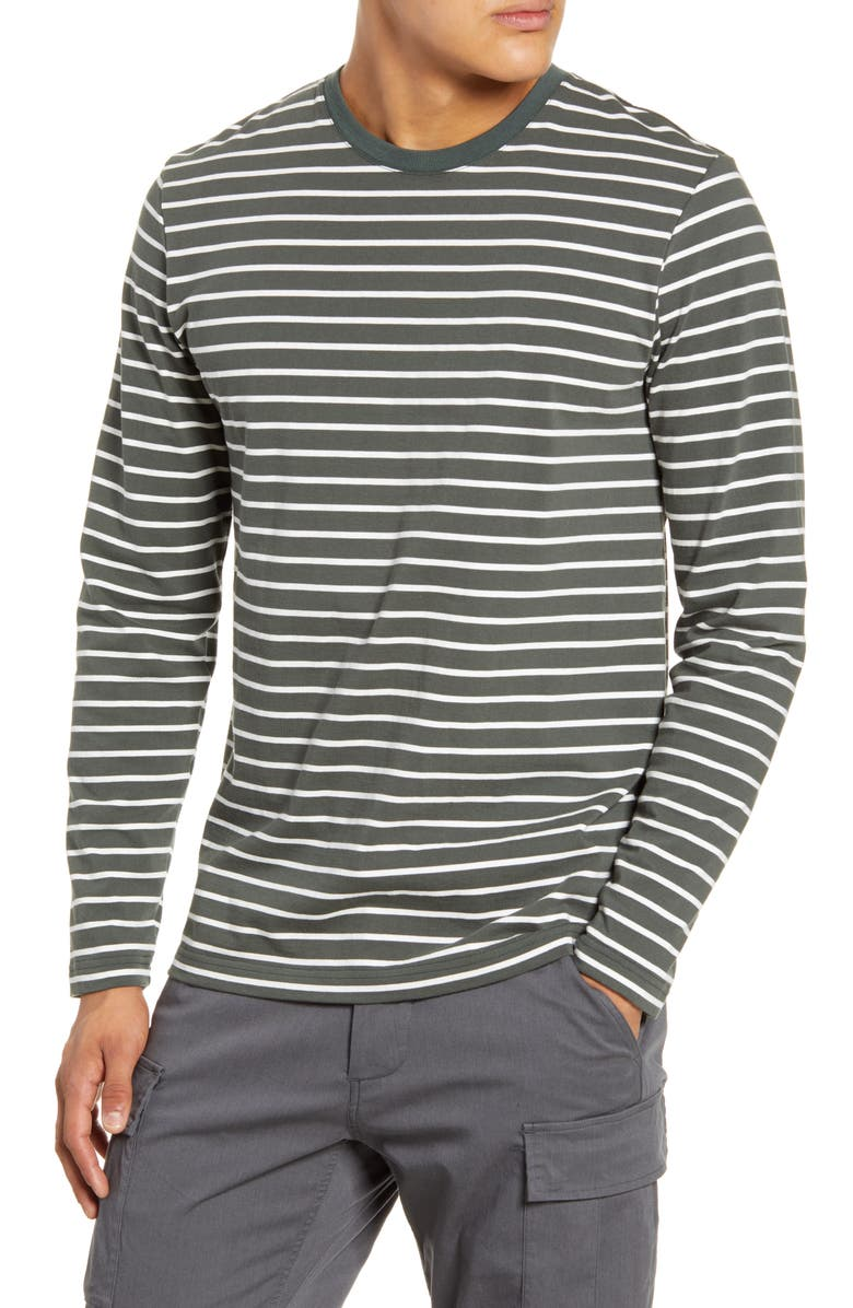 WINGS + HORNS Stripe Long Sleeve T-Shirt, Main, color, 300