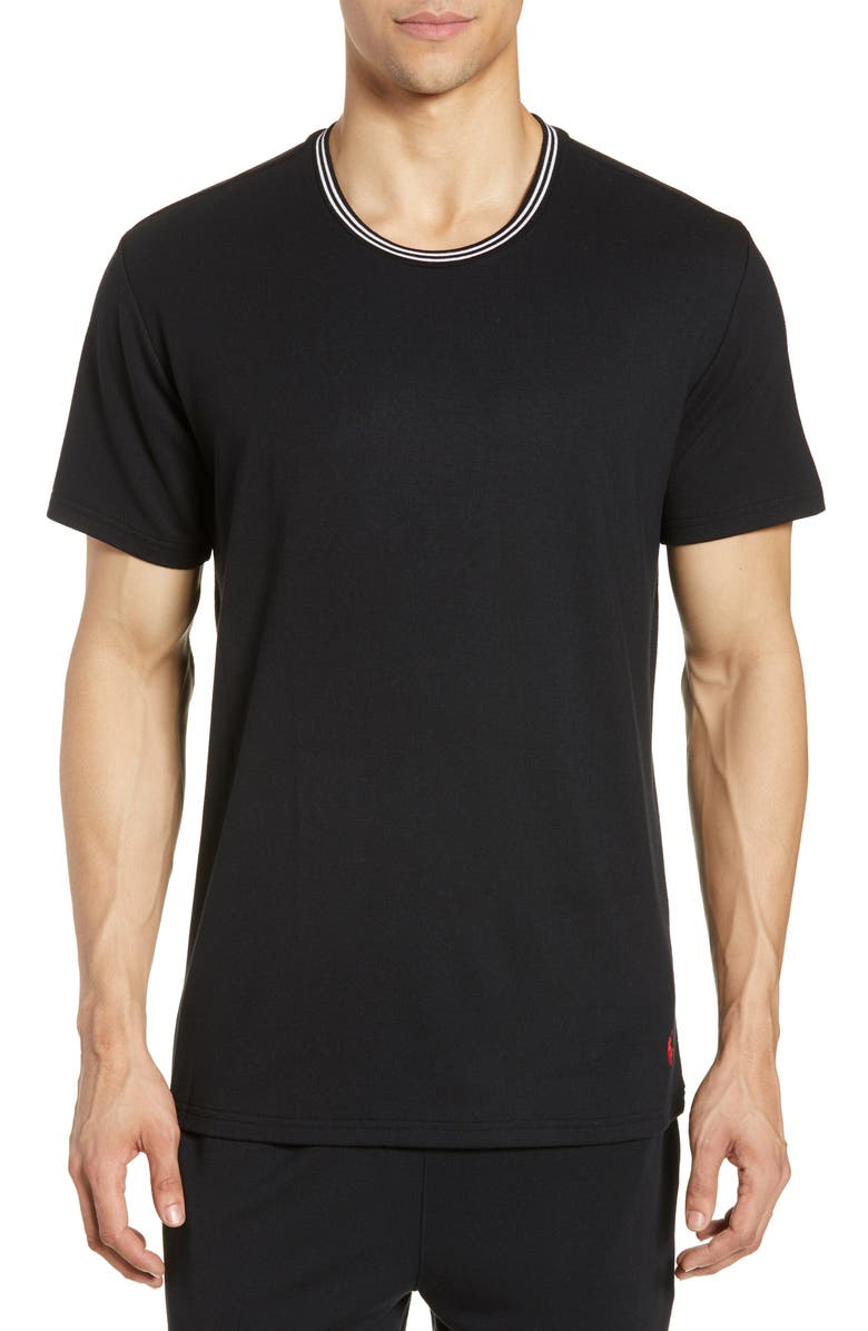 POLO RALPH LAUREN Terry Cloth Crewneck T-Shirt, Main, color, POLO BLACK