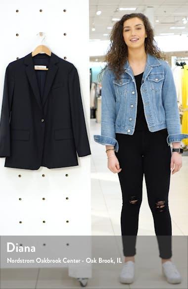 Laser Single Button Wool Jacket, sales video thumbnail