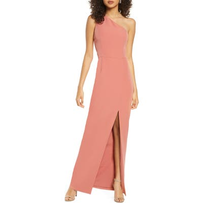 Wayf The Lenore One Shoulder Column Dress