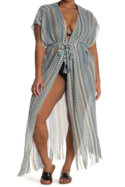 Image of BECCA Wander Tie Front Kimono