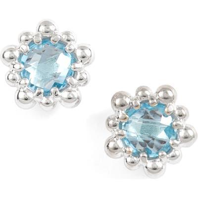 Anzie Micro Dew Drop Topaz Earrings