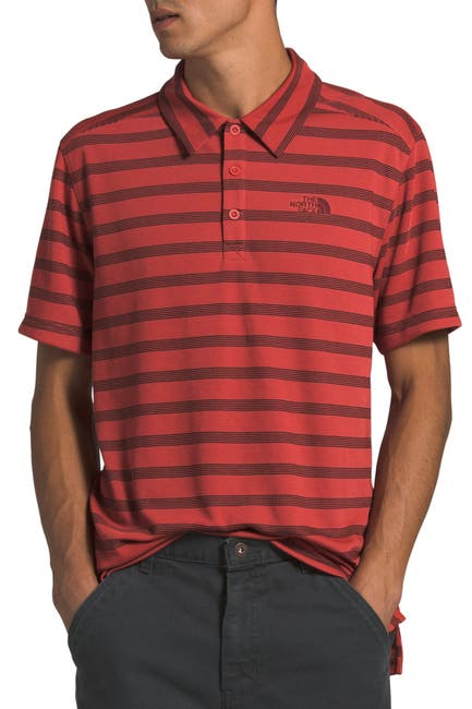 Image of The North Face Plaited Crag Stripe Polo Shirt