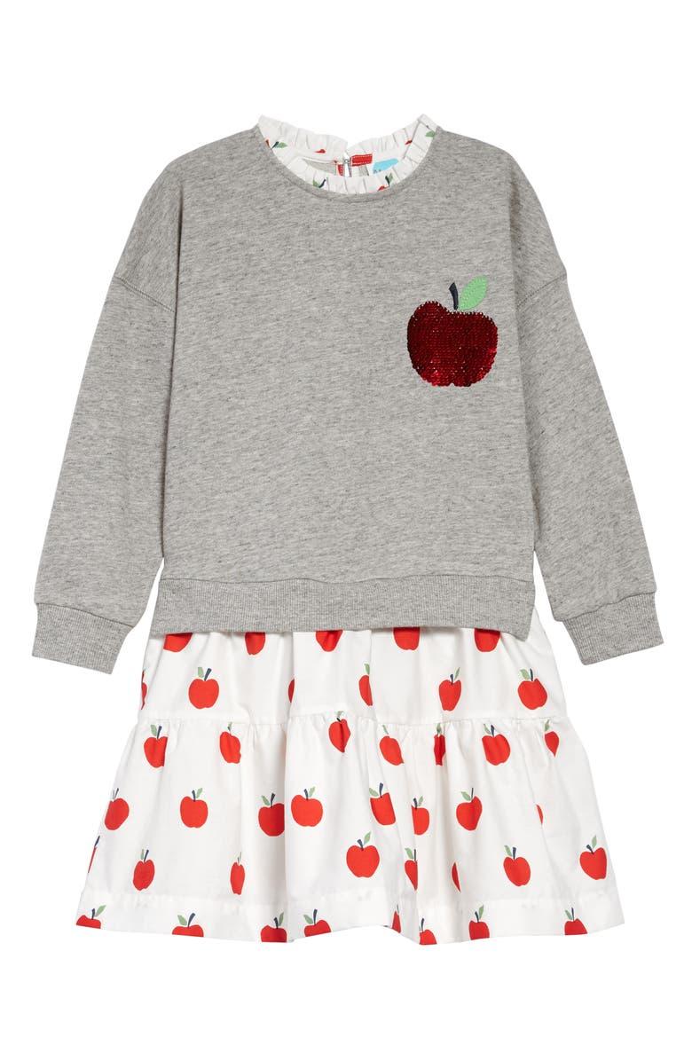 MINI BODEN Sequin Color-Change Dress, Main, color, GRY GREY APPLE
