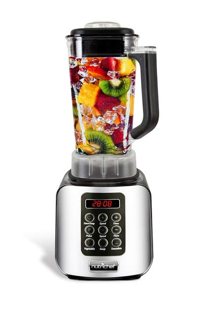 Image of NutriChef Digital Countertop Blender with Pulse Blend, Adjustable Time & Speed Settings