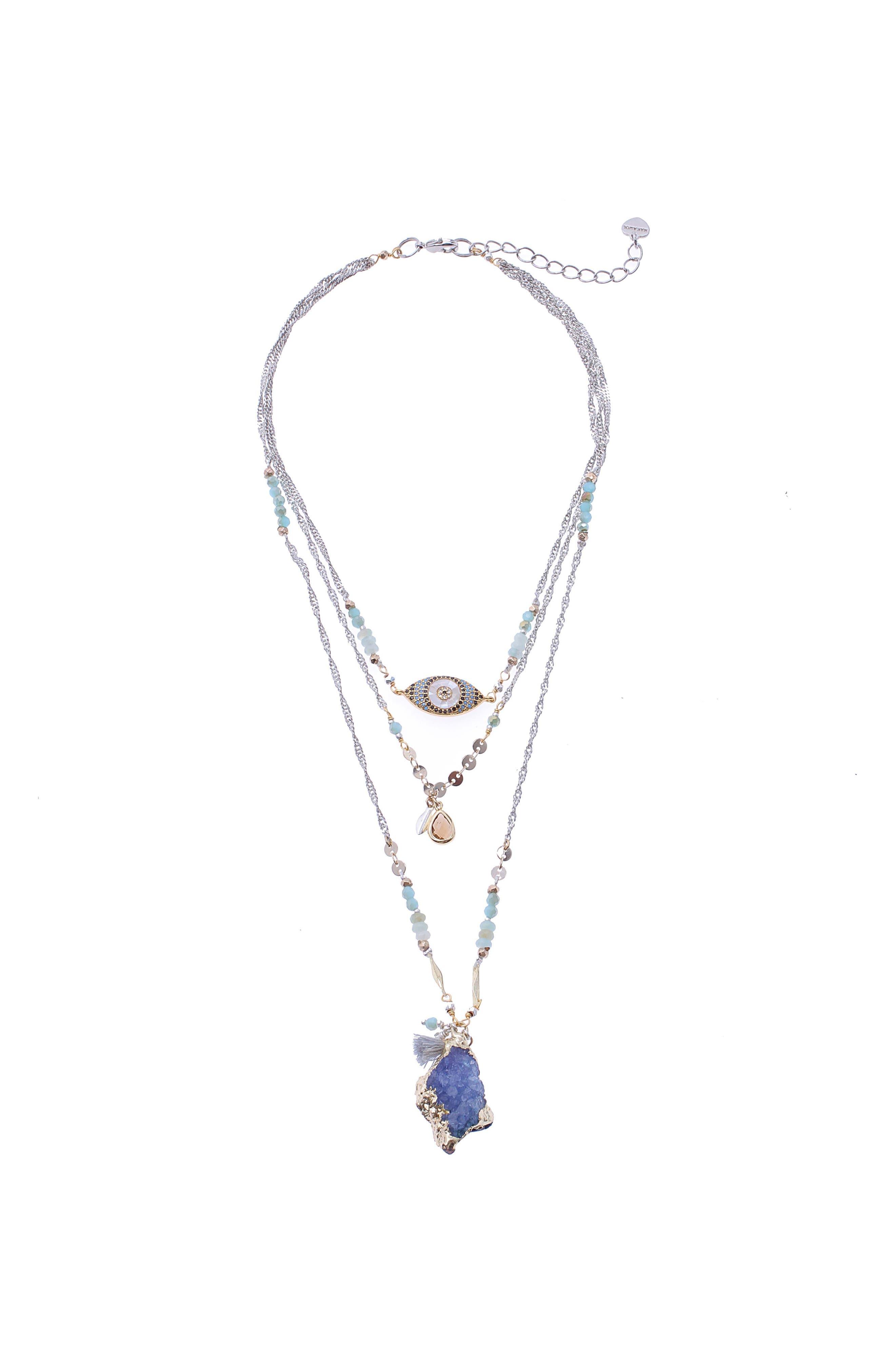 Evel eye Beaded necklace