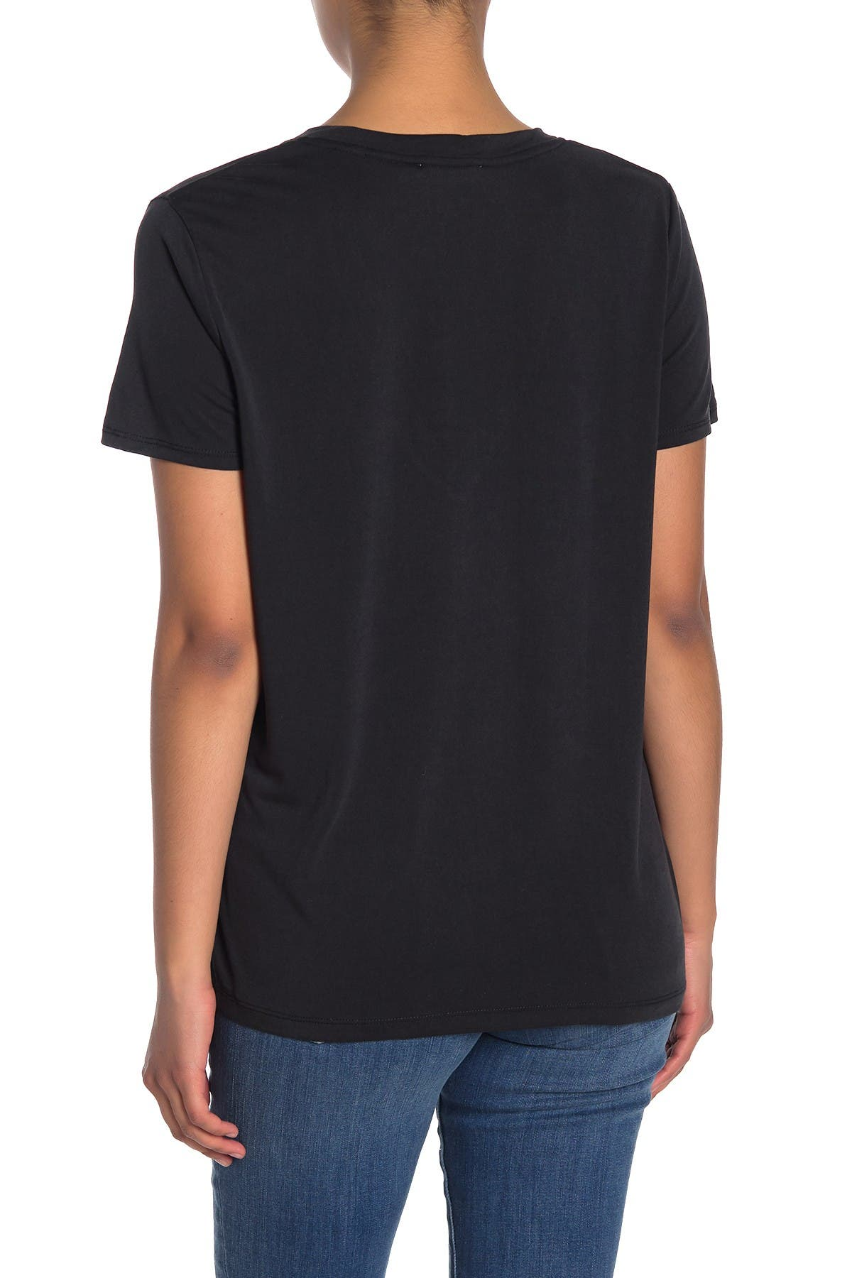 Image of Lush V-Neck Short Sleeve T-Shirt