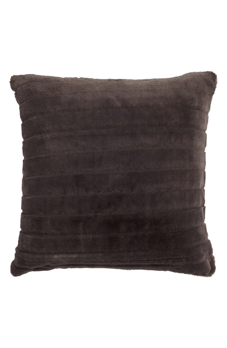 NORDSTROM AT HOME Stripe Faux Fur Accent Pillow, Main, color, 021