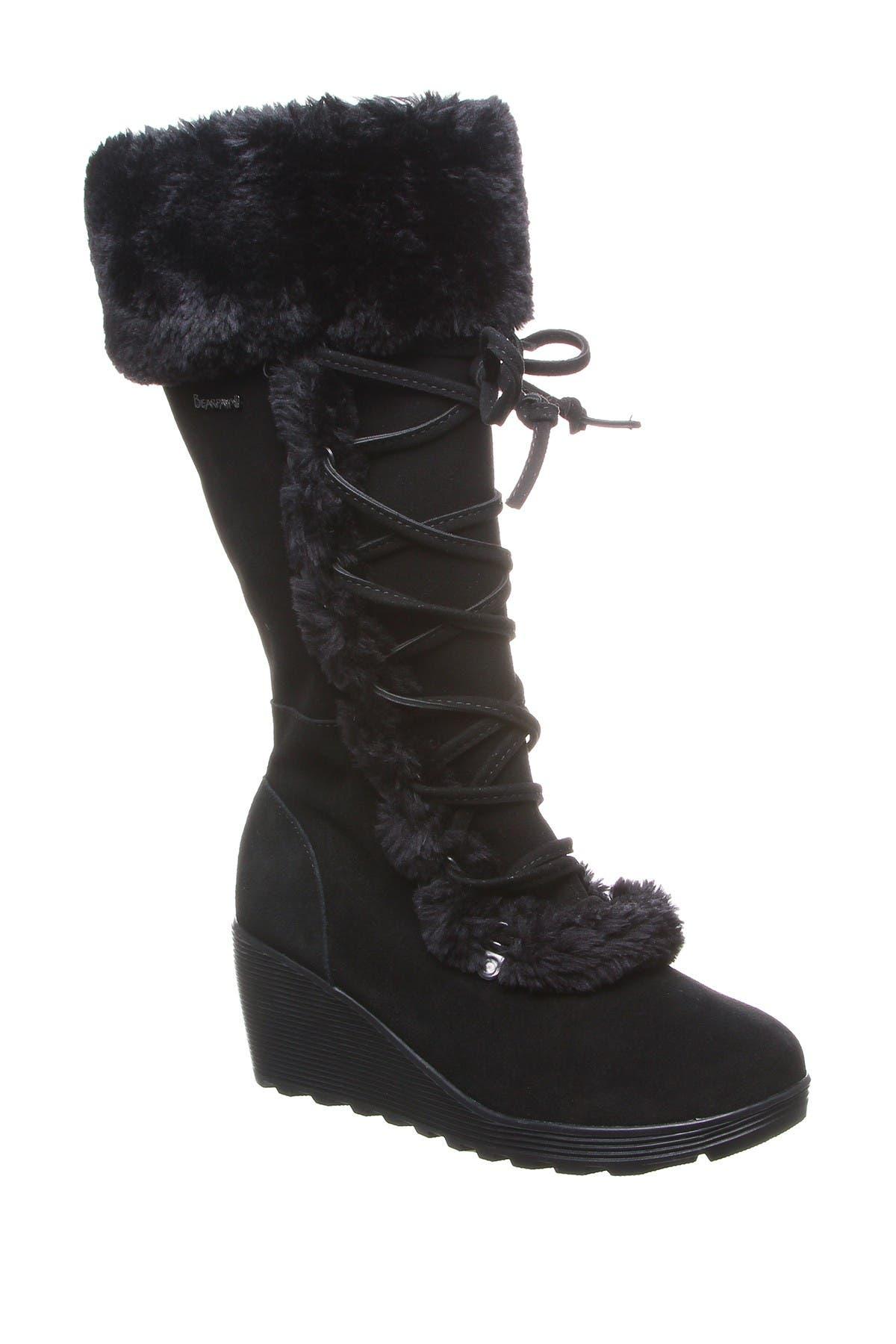 Image of BEARPAW Minka Faux Fur Suede Tall Boot