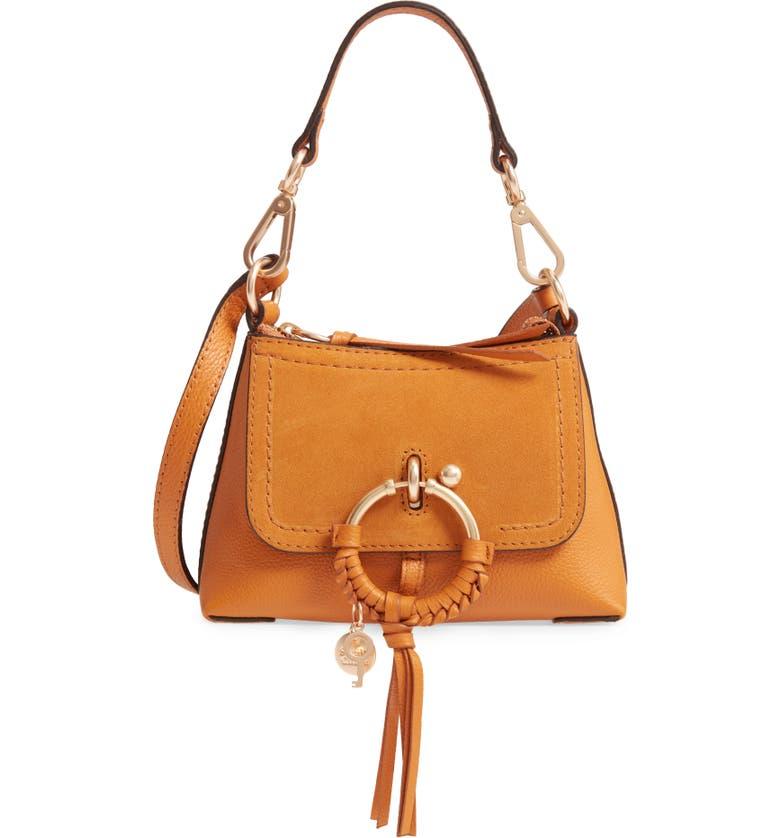 SEE BY CHLOÉ Mini Joan Leather Crossbody Bag, Main, color, LUMINOUS OCHRE