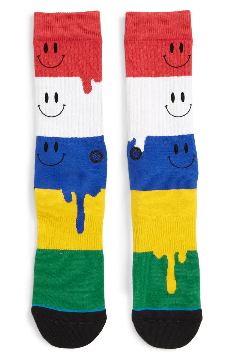 STANCE Face Melter Crew Socks, Main, color, MULTI COLOR