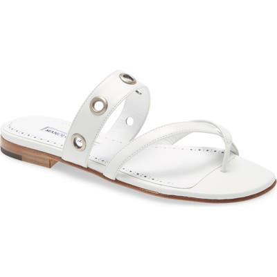 Manolo Blahnik Susoch Thong Sandal, White