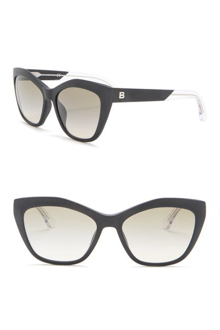 Image of Balenciaga 56mm Modified Cat Eye Sunglasses