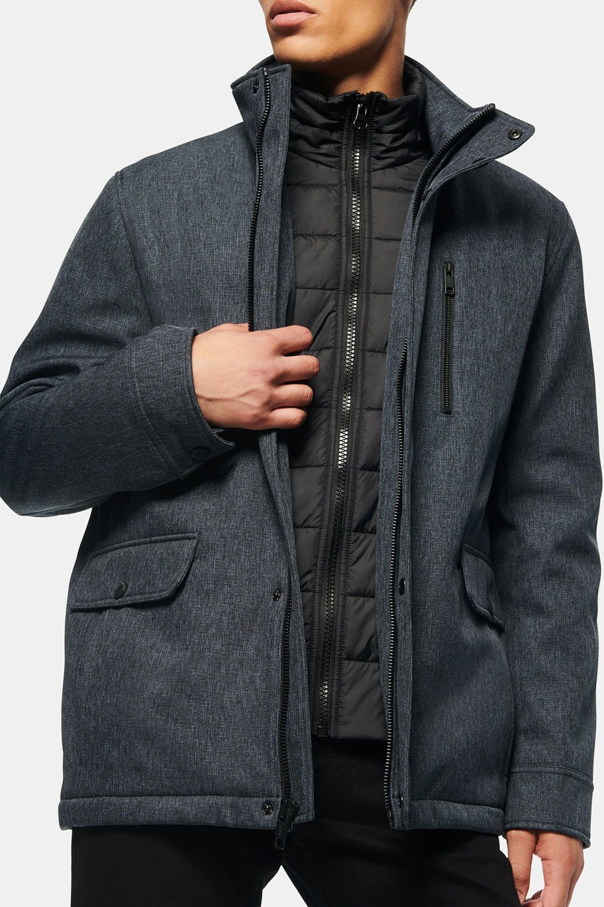 Image of Andrew Marc Mullins Quilted Bib Jacket