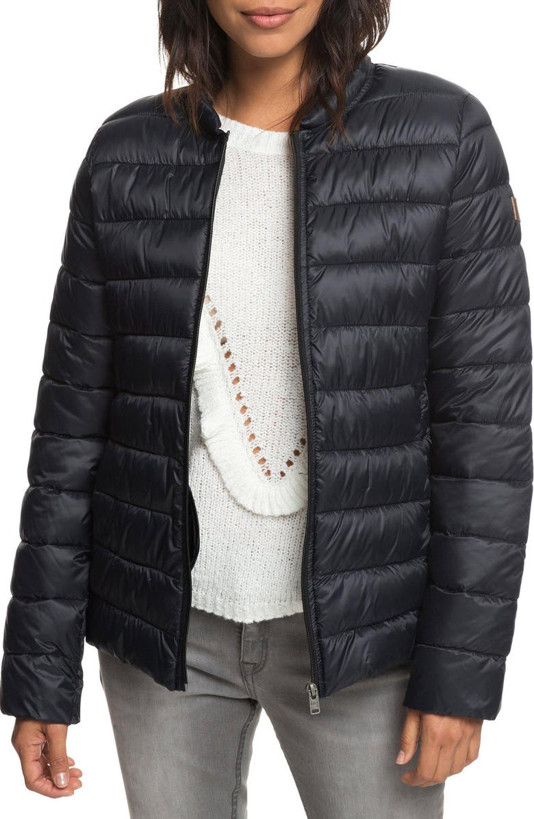 ROXY Endless Dreaming Puffer Coat, Main, color, 001