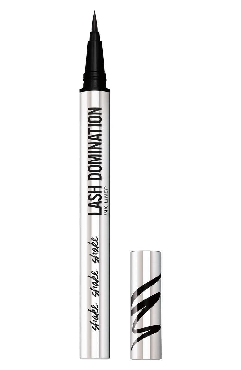 BAREMINERALS<SUP>®</SUP> LASH DOMINATION<sup>®</sup> Liquid Eyeliner, Main, color, INTENSE BLACK