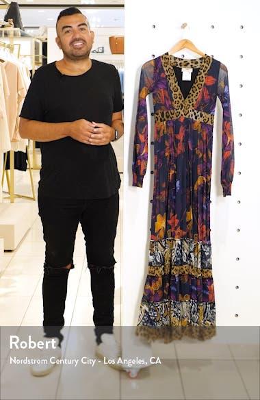 Leopard Patchwork Long Sleeve Maxi Dress, sales video thumbnail