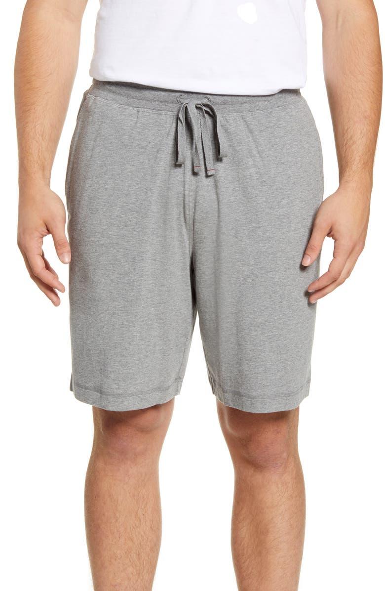 DANIEL BUCHLER Stretch Cotton & Modal Lounge Shorts, Main, color, GREY