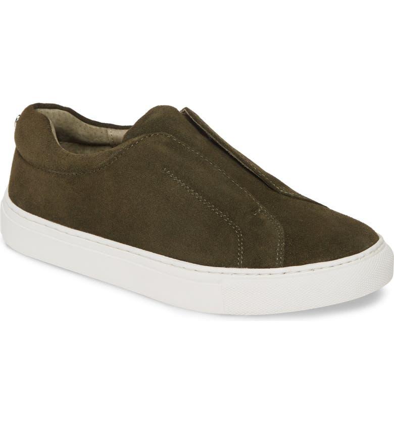 JSLIDES Luv Slip-On Sneaker, Main, color, KHAKI SUEDE