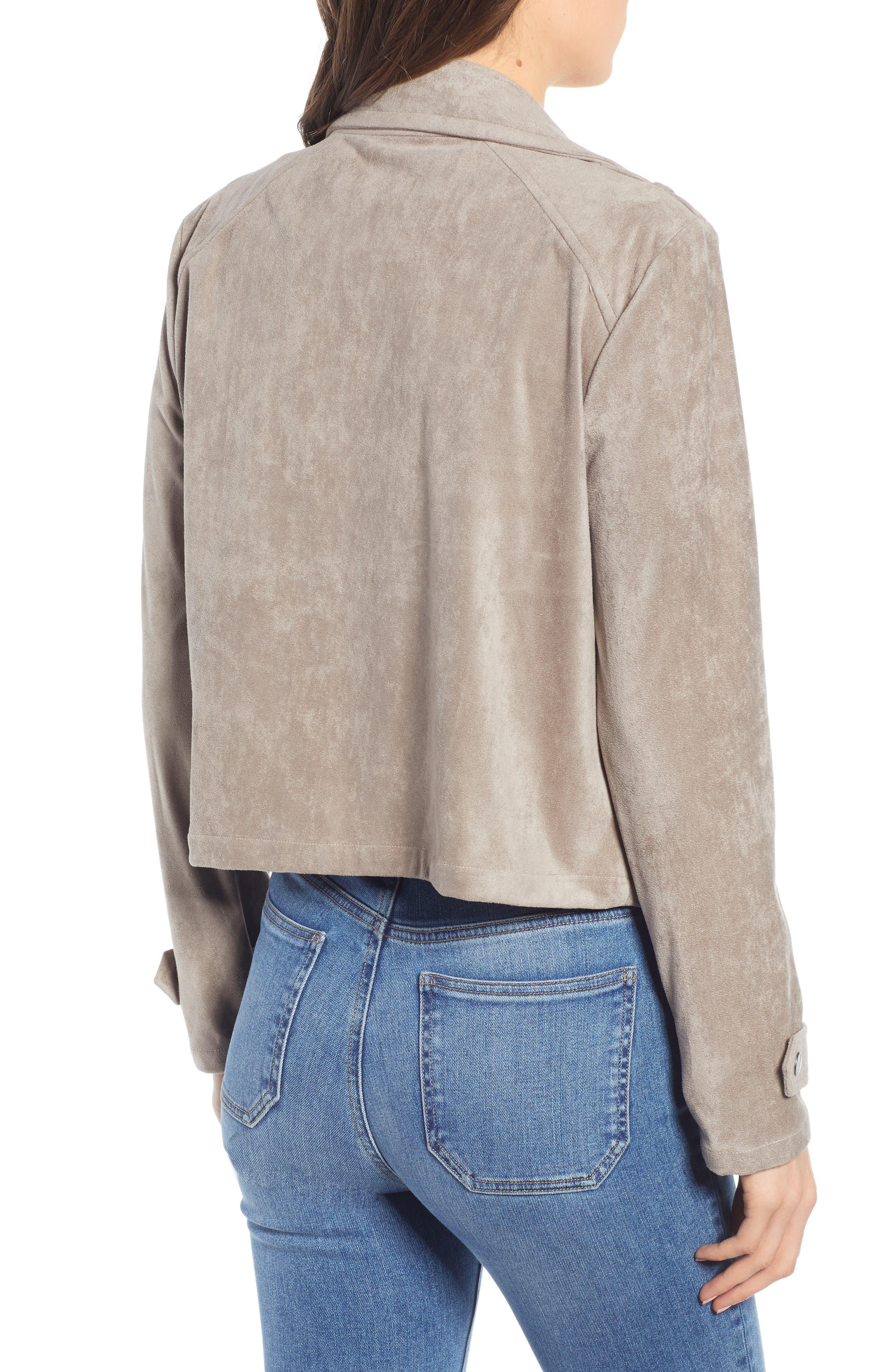 ,                             Robin Drape Front Faux Suede Jacket,                             Alternate thumbnail 2, color,                             020