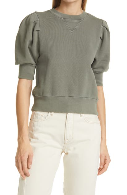 Frame PLEATED SLEEVE SWEATSHIRT