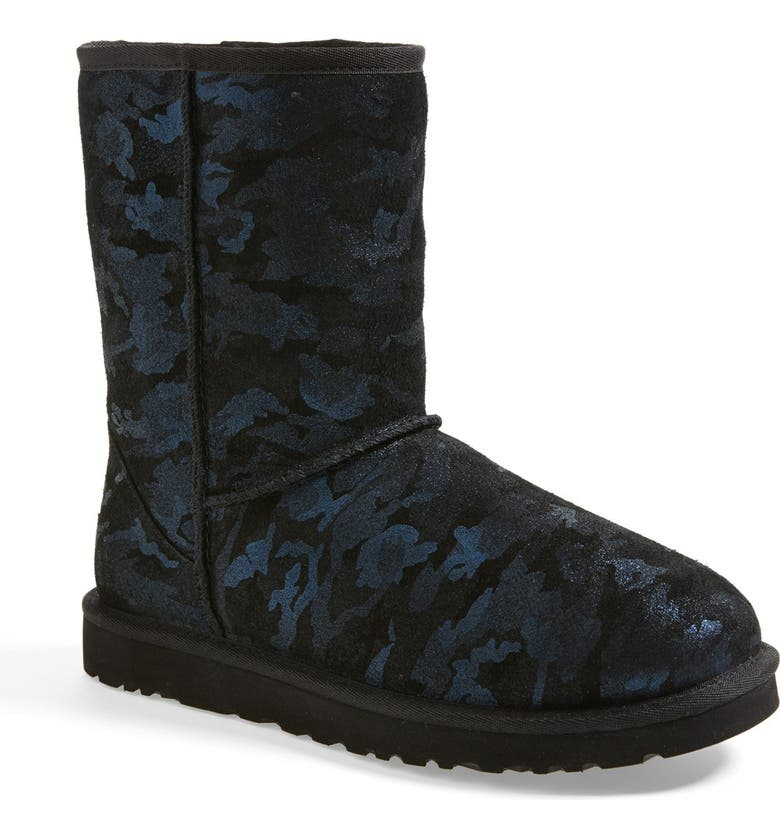 UGG<SUP>®</SUP> UGG CLASSIC SHORT METALLIC CAMO BOOT, Main, color, 406