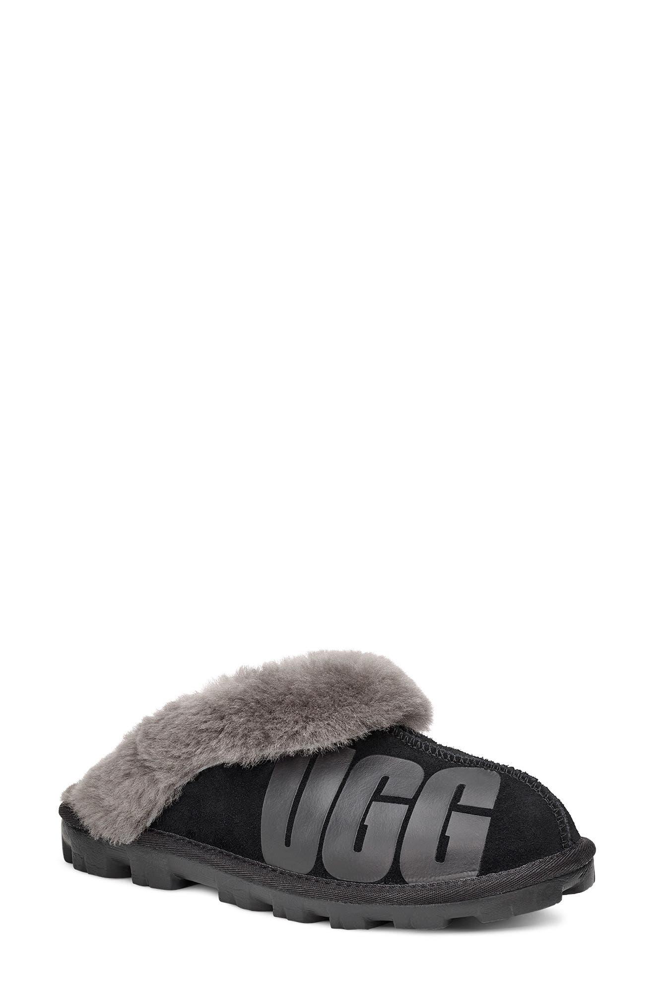 UGG® Logo Genuine Shearling Slipper (Women)