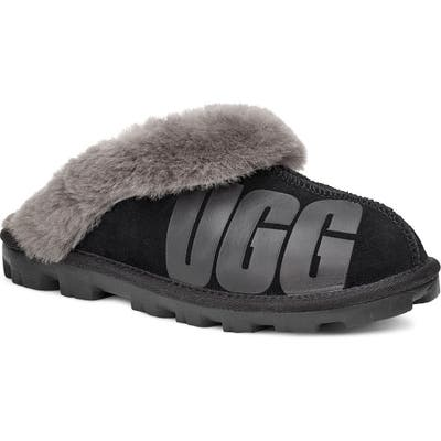 UGG Logo Genuine Shearling Slipper