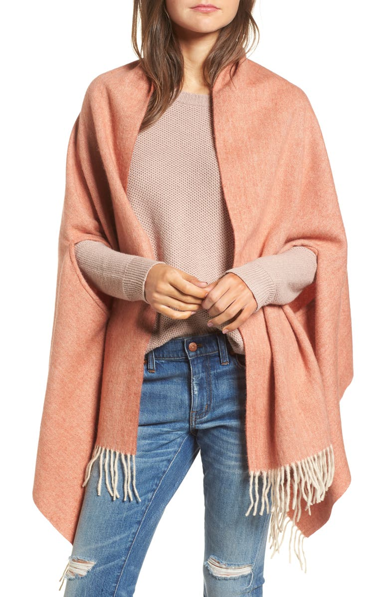 MADEWELL Fringe Cape Scarf, Main, color, 800