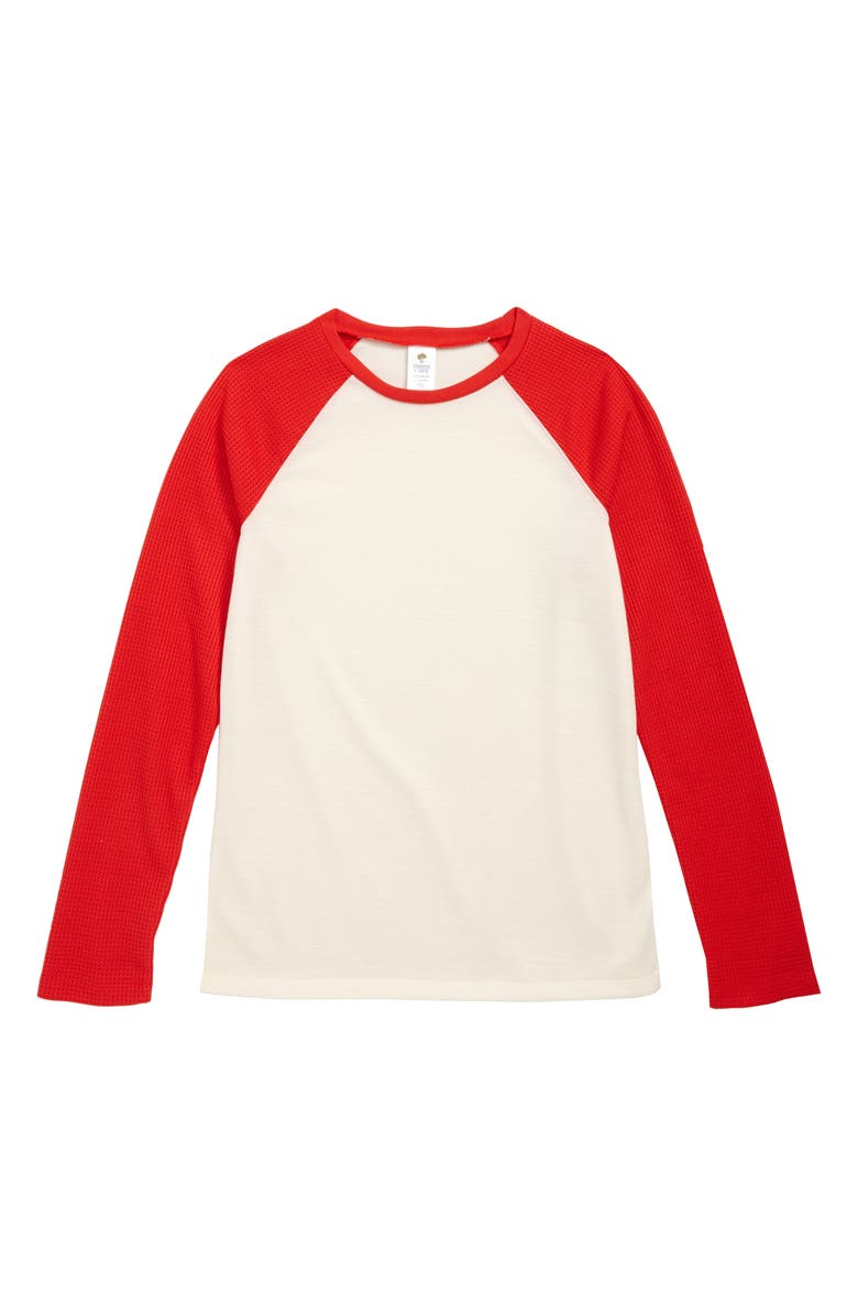 TUCKER + TATE Fitted Pajama T-Shirt, Main, color, IVORY EGRET- RED