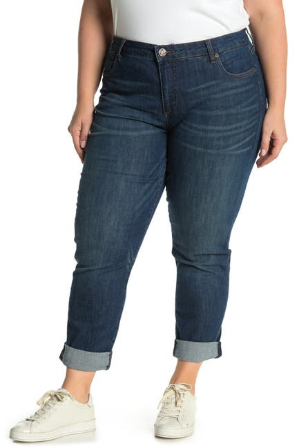 Image of KUT from the Kloth Carrie Rolled Hem Boyfriend Jeans