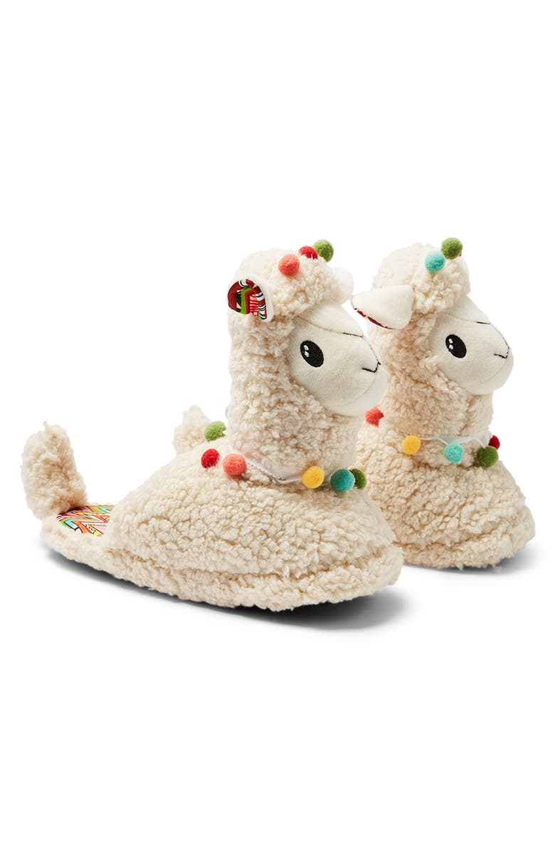 TOPSHOP Llama Slippers, Main, color, 900