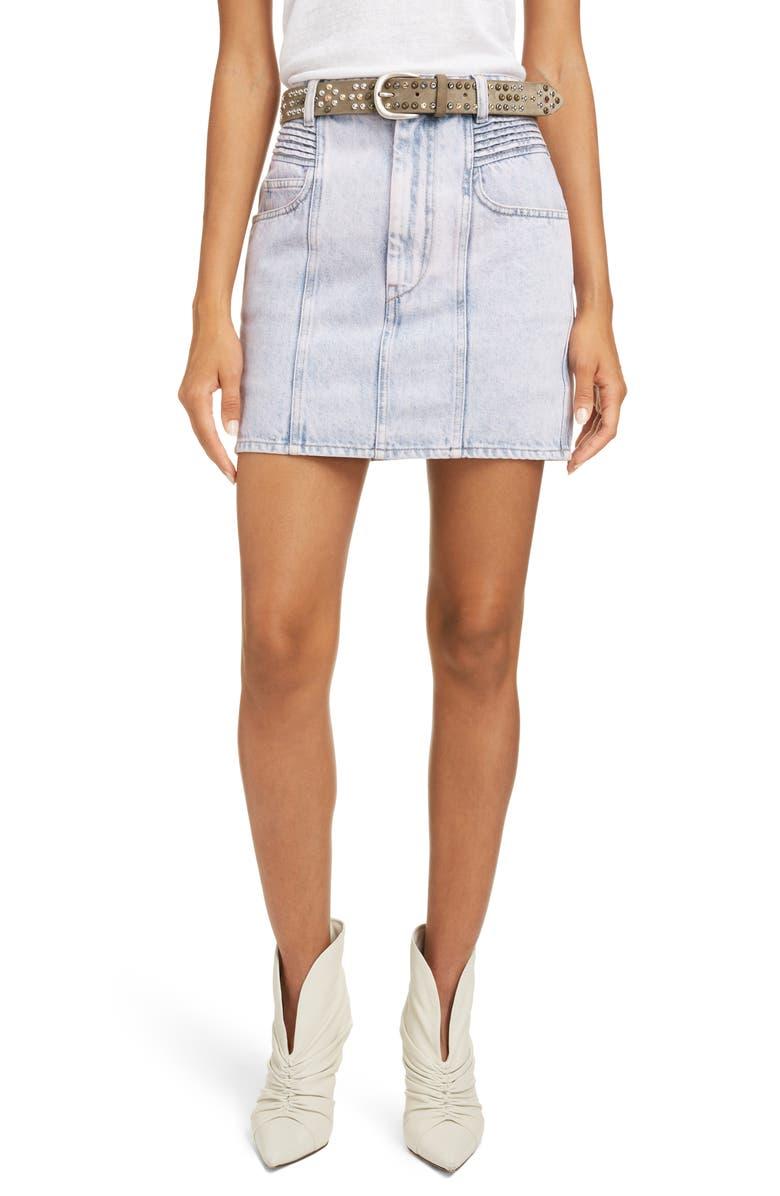 ISABEL MARANT ÉTOILE Hondo Denim Miniskirt, Main, color, LILAC