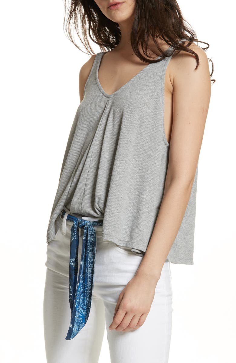 FREE PEOPLE Dani Swing Tank, Main, color, HEATHER GREY