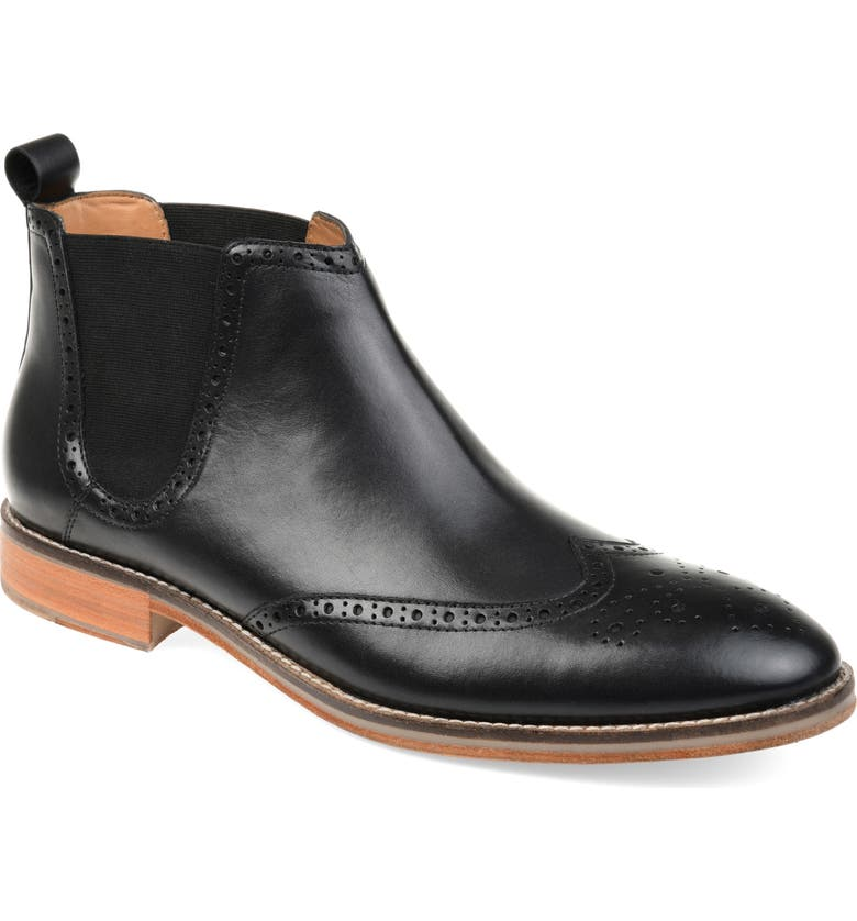 THOMAS & VINE Thorne Wingtip Chelsea Boot, Main, color, 001