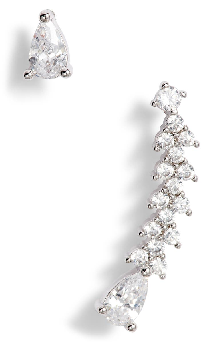 8 OTHER REASONS Caterina Ear Crawler & Stud Earrings, Main, color, 250